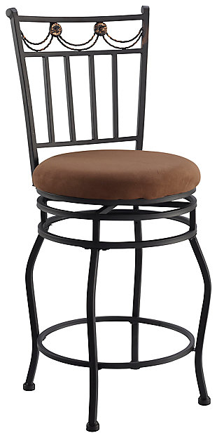 Brady Swag Counter Stool, Brown, large
