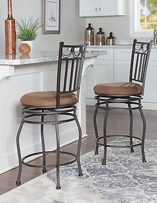 Brady Swag Counter Stool, Brown, rollover