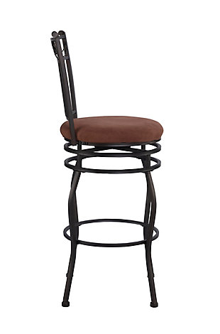 Brady Swag Bar Stool, Brown, large