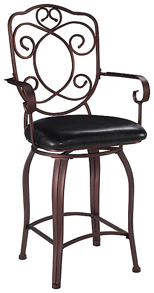 Carmella Crested Back Counter Stool, , large