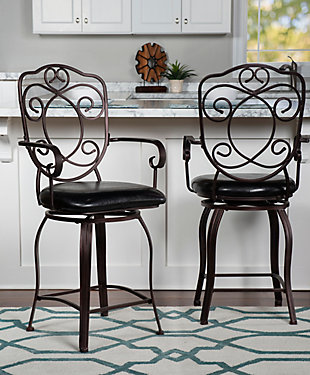 Carmella Crested Back Counter Stool, , rollover