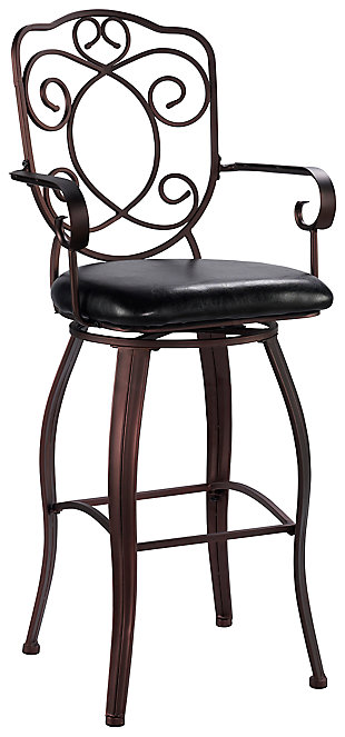 Carmella Crested Back Bar Stool, , large