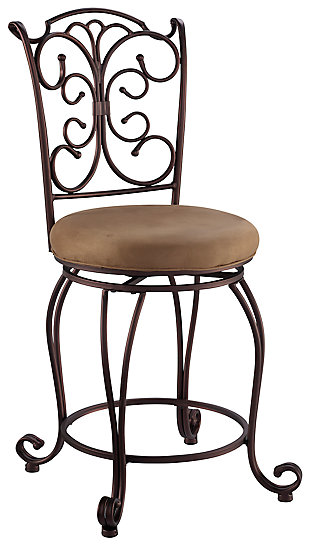 Fabrizzi Gathered Back Counter Stool, , large