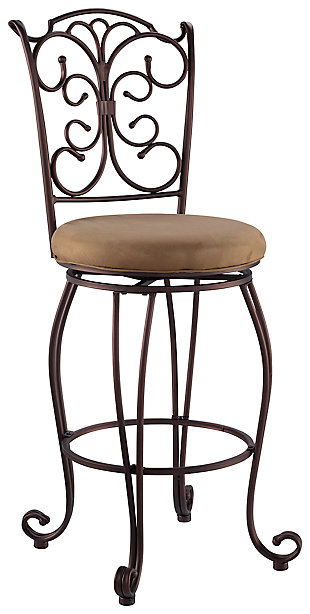 Fabrizzi Gathered Back Bar Stool, , large