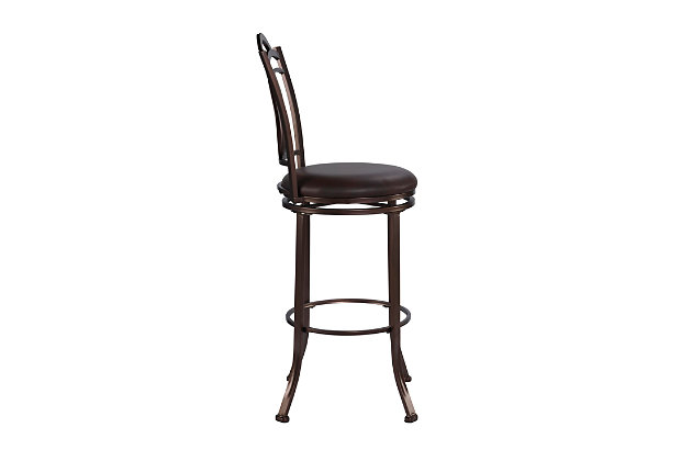 Gardenia Calif Metal Bar Stool, , large