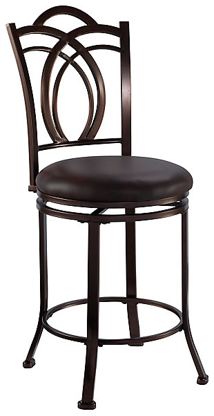 Gardenia Calif Metal Counter Stool, Brown, large