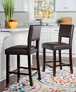 Emilion Vega Counter Stool Brown, Brown, rollover