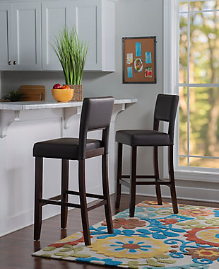 Emilion Vega Bar Stool Brown, Brown, rollover