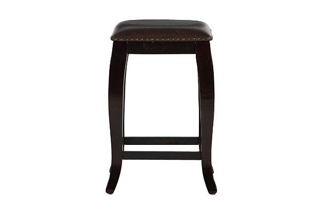 Margarite San Francisco Square Top Counter Stool, Dark Brown, large