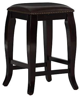 Margarite San Francisco Square Top Counter Stool, Dark Brown, large