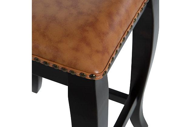 Margarite San Francisco Square Top Counter Stool, Cognac, large