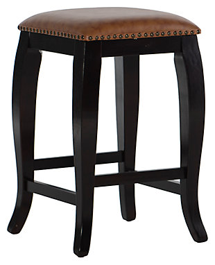 Margarite San Francisco Square Top Counter Stool, Wenge, large