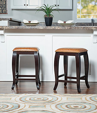 Margarite San Francisco Square Top Counter Stool, Wenge, rollover