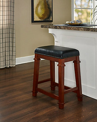 Kennedy Backless Counter Stool, Dark Cherry, rollover