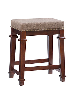 Kennedy Backless Tweed Counter Stool, Brown, large