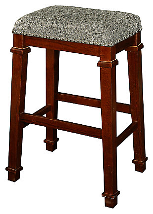 Backless Kennedy Backless Tweed Bar Stool, , large
