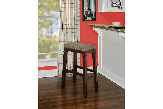 Kennedy Backless Tweed Bar Stool, , large