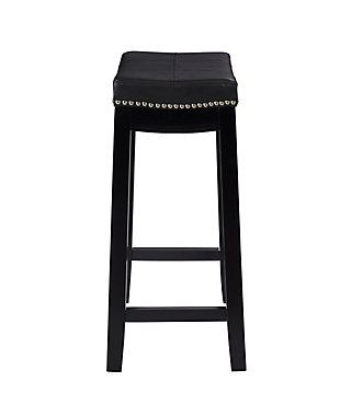Backless Claridge Black Counter Stool, Black, large