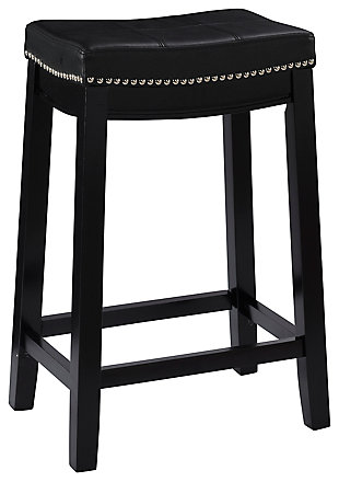 Backless Claridge Black Counter Stool, , large