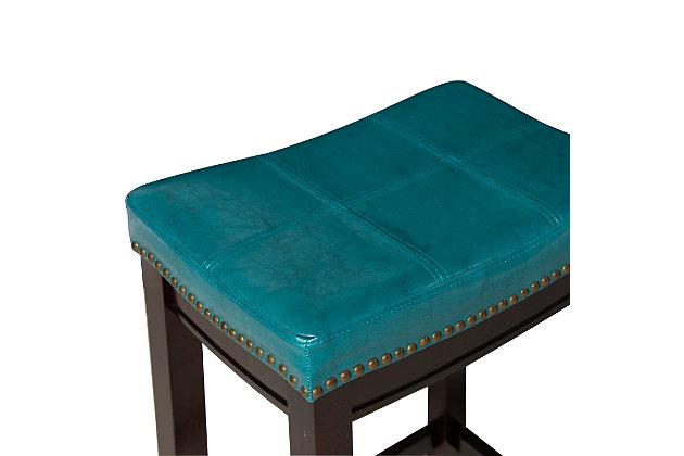 Backless Claridge Blue Counter Stool, Blue, large