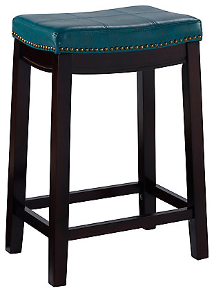 Backless Claridge Blue Counter Stool, , large