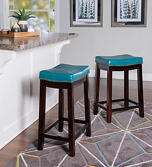 Backless Claridge Blue Counter Stool, , rollover
