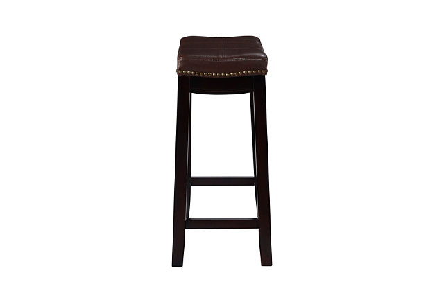 Backless Claridge Patches Brown Counter, Brown, large