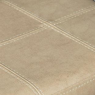 Backless Claridge Beige Counter Stool, Beige, large