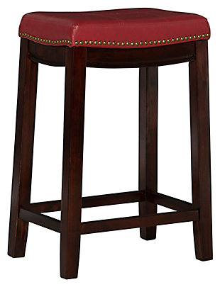 Backless Claridge Red Counter Stool, , large