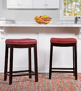 Backless Claridge Red Counter Stool, , rollover