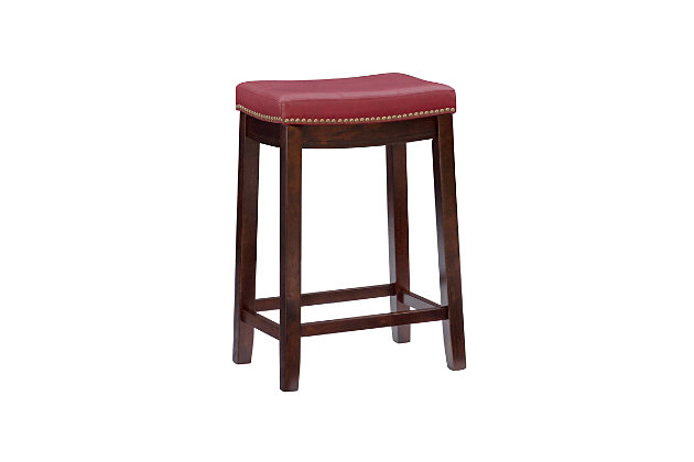 Backless Claridge Red Counter Stool, Red, large