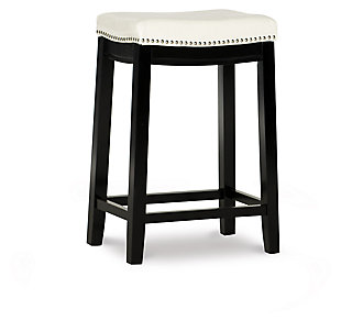 Backless Patches White Counter Height Bar Stool, , large