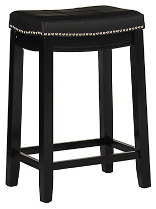 Backless Claridge Black Bar Stool, , large