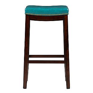 Backless Claridge Blue Bar Stool, , large