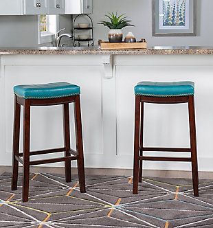 Backless Claridge Blue Bar Stool, , rollover