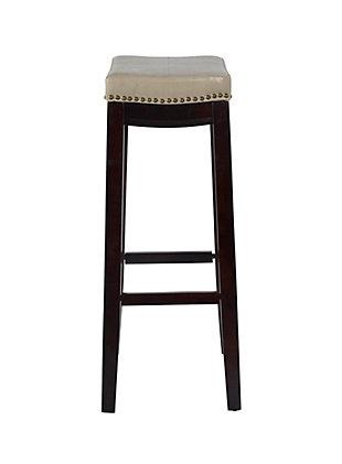 Backless Claridge Beige Bar Stool, Beige, large