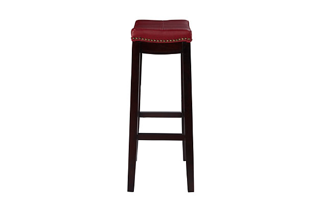 Backless Claridge Red Bar Stool, Espresso, large