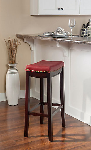 Backless Claridge Red Bar Stool, , rollover