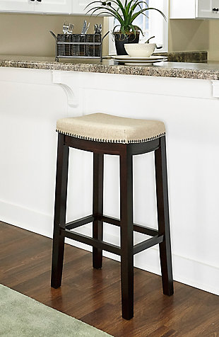 Backless Allure Fabric Top Stool, , rollover