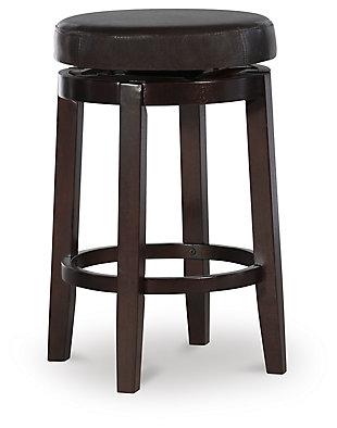 Maya Round Counter Stool, Brown, large
