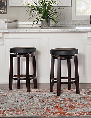 "Round Maya 24"" Counter Stool, Brown, rollover"