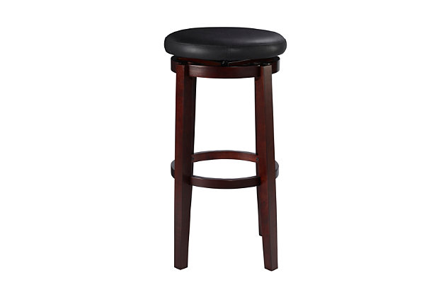 Maya Round Bar Stool, Black, large