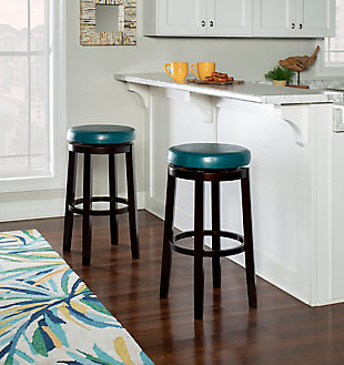 "Round Maya 29"" Bar Stool, Brown, rollover"