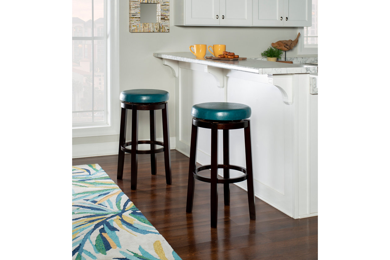 Admirable Round Maya 29 Bar Stool Ashley Furniture Homestore Evergreenethics Interior Chair Design Evergreenethicsorg