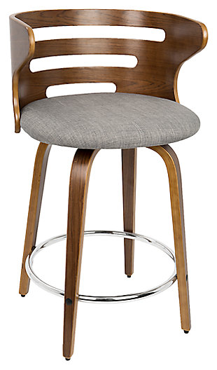 Cameron Swivel Counter Height Bar Stool (Set of 2), , large