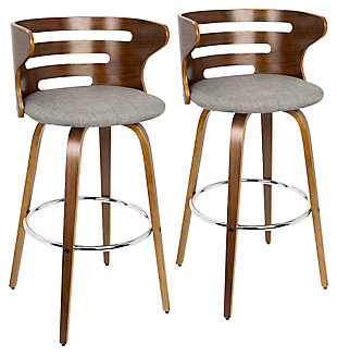 Cameron Swivel Pub Height Bar Stool  (Set of 2), , large