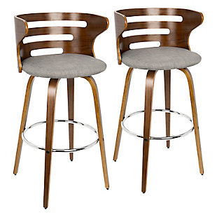 Cameron Swivel Pub Height Bar Stool  (Set of 2), , rollover