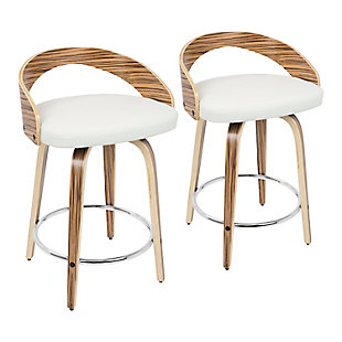 Howie Swivel Counter Stool (Set of 2), , rollover
