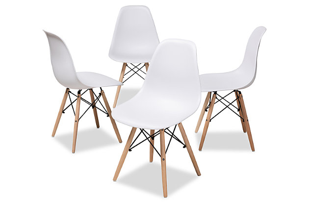 Mid Century Modern Acrylic Dining Chair (Set of 4), , large