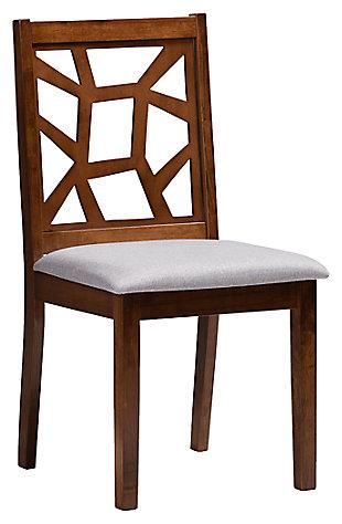 Asymmetrical Modern Dining Chair (Set of 2), Walnut/Ash, large